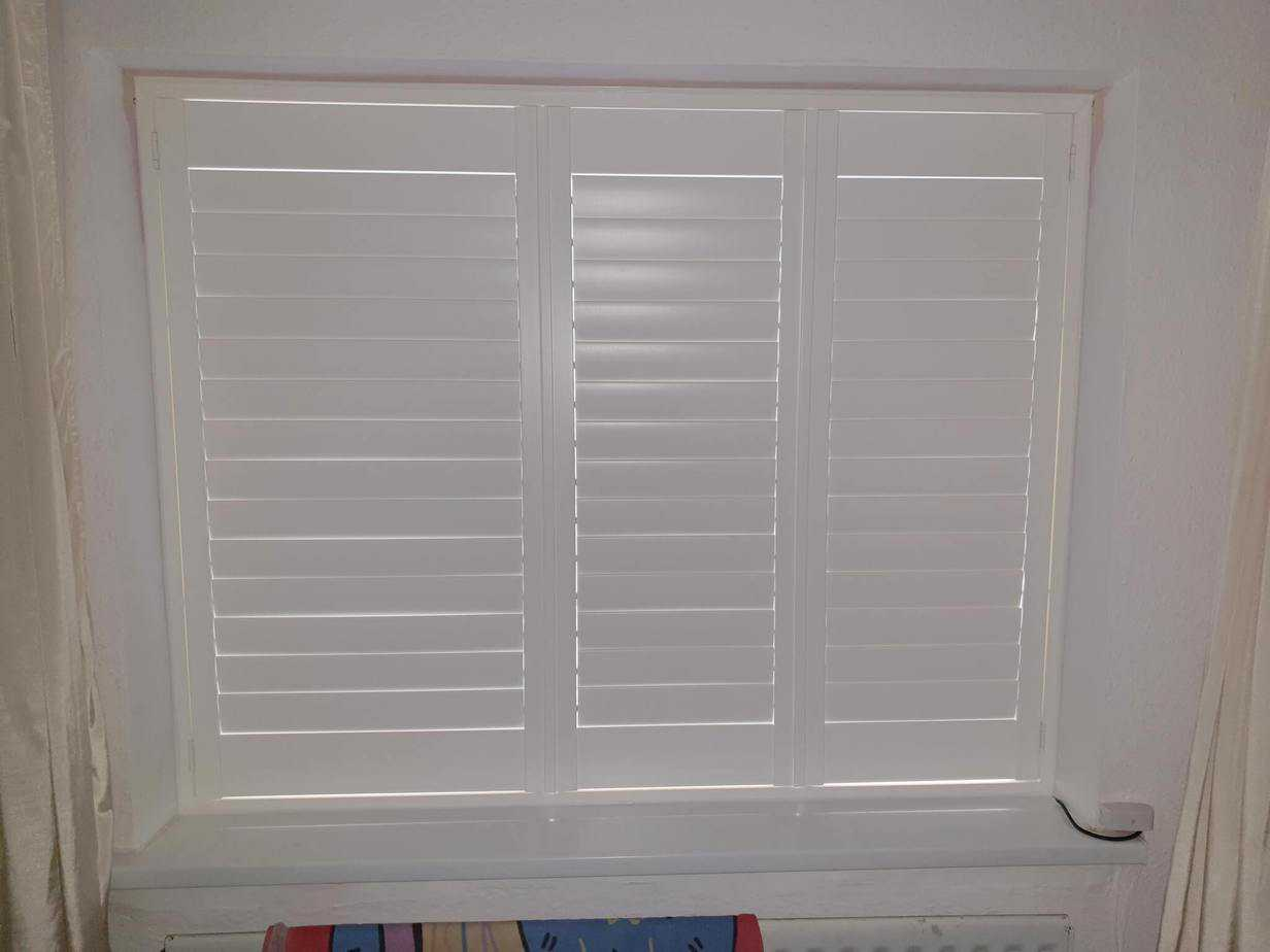 Exterior: White Plantation Shutter Installed In Ballyfermot, Co Dublin