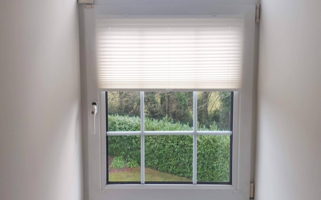Pleated Blinds installed in Malahide, Co Dublin