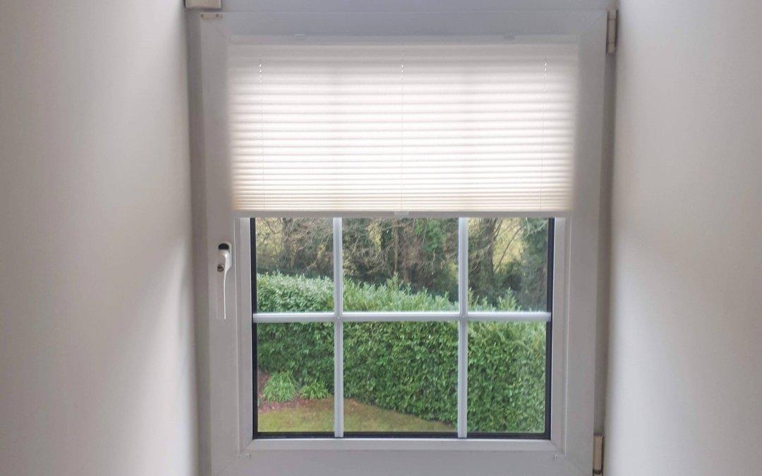 Pleated Blinds installed in Malahide, Co Dublin