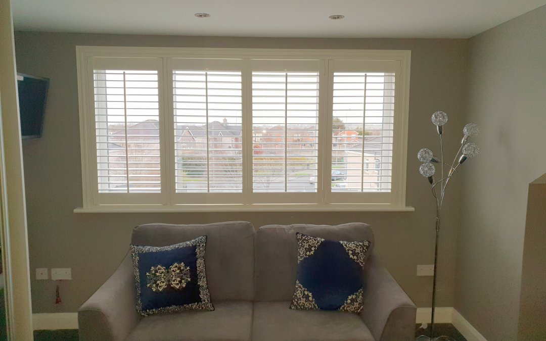 White Plantation Shutters installed in Clonsilla, Dublin 15