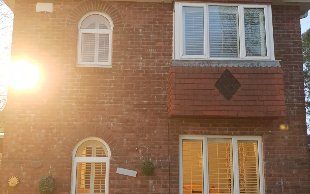 Shaped and Standard Shutters installed in Bray, Co Wicklow
