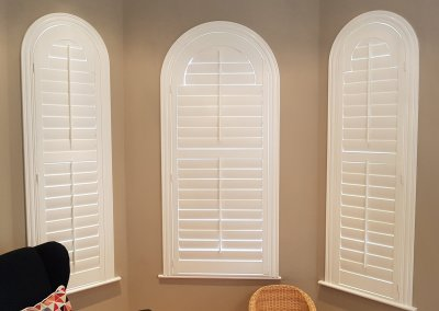 Sunroom Arched Shutters