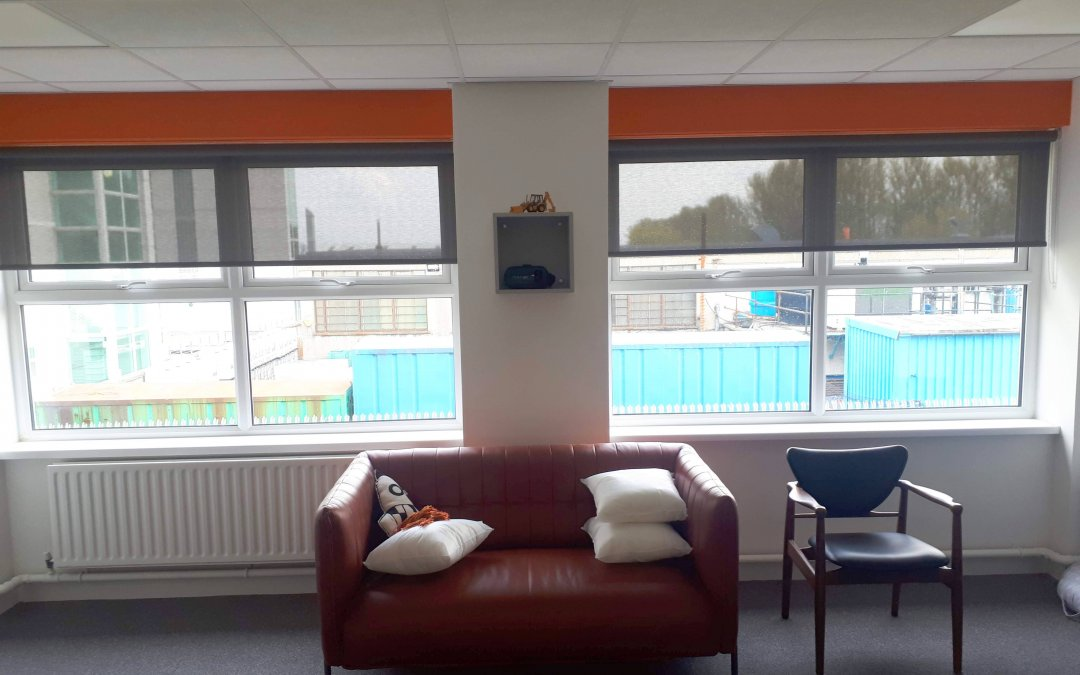 Roller Blinds installed in Office in Tallaght