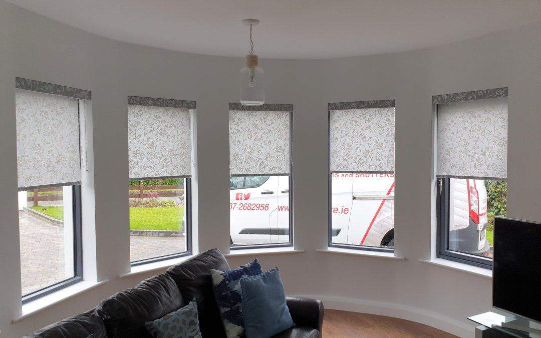 Roller blinds installed in Skerries, Dublin