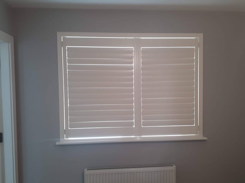 White Plantation Shutters fitted in Diswellstown Manor, Hamilton Park, Dublin 15.