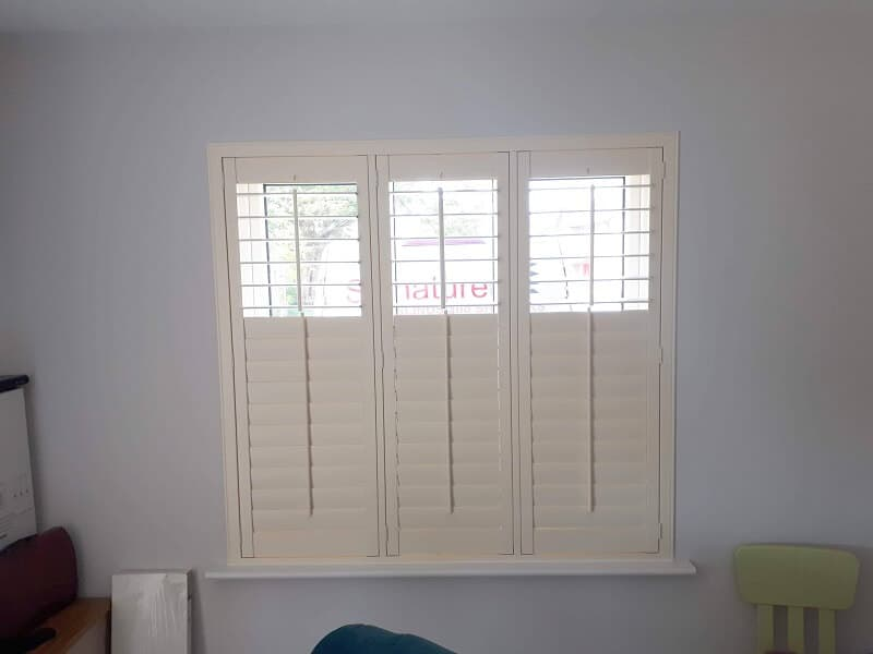 Beautiful Crisp Linen Plantation Shutters installed in Beechwood Gate, Ongar , Dublin 15