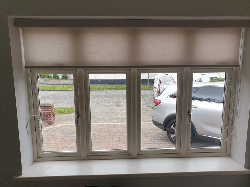 Roller Blinds with matching valances installed in Templeogue, Dublin 6W