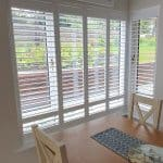 Large White Plantation Shutters fitted in Goatstown, Dublin.