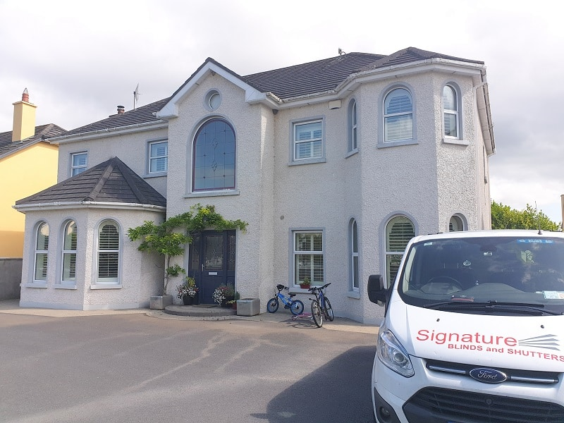 Arched shutters installed in Mucklagh, County Offaly