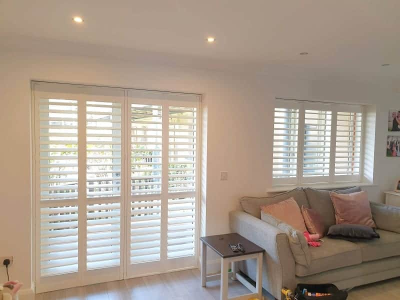 Large Plantation Shutters installed in Baldoyle, Co Dublin.
