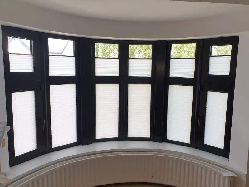 Pleated Blinds installed in Donnybrook, Dublin 4.