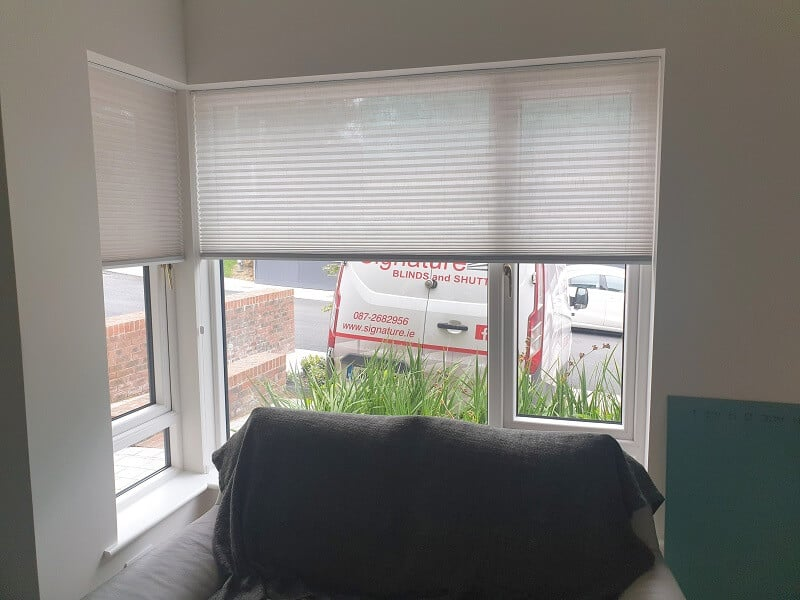 Pleated and Duette blinds installed in Goatstown, Dublin