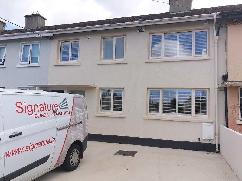 Stunning white Plantation Shutters fitted in Deansgrange, Dublin 4