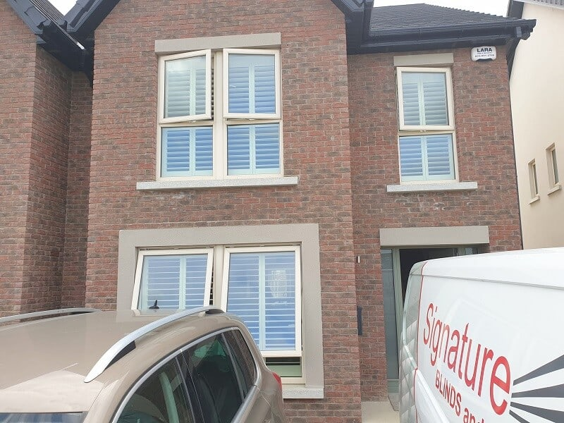 Stunning White Shutters fitted in Hollywoodrath, Dublin 15