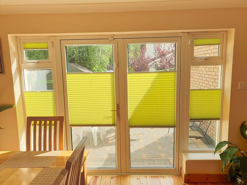 Pleated blinds installed in Clonsilla, Dublin 15