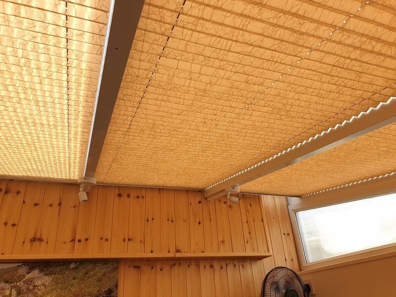Pleated Roof Blinds installed in Shankill, County Dublin.