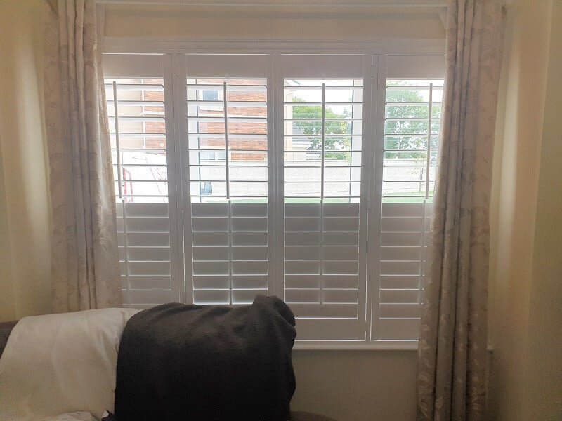 White Plantation Shutters installed in Ashbourne, Co Meath