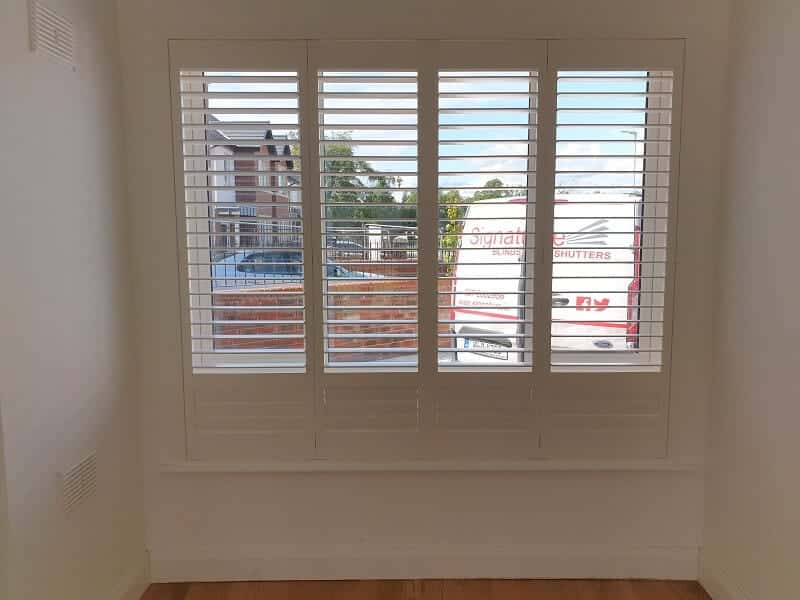 Beautiful White Shutters fitted in Maynooth, Kildare.