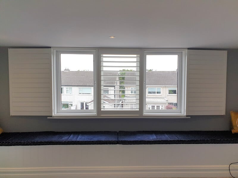 Bright White Plantation Shutters installed in Templeogue, Co Dublin
