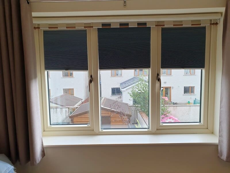 Duette and Pleated Blinds installed in Naas, Kildare.