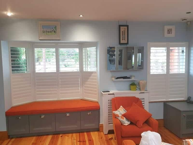 Shaped and Standard Shutters installed in Stillorgan, Dublin