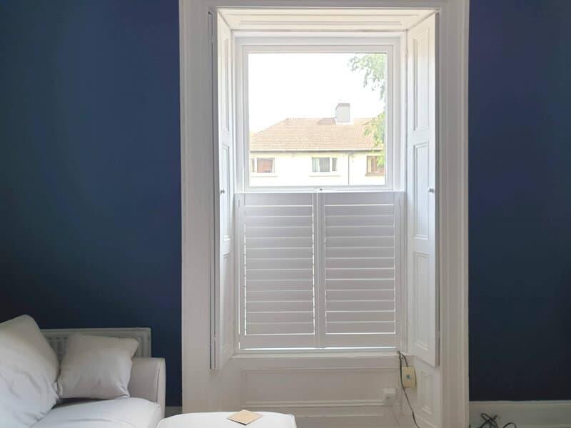 Cafe Style Plantation Shutters fitted in Rathgar, Dublin