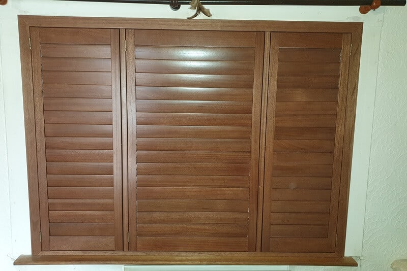 Brown Shutters installed in Cabra, Dublin 7.