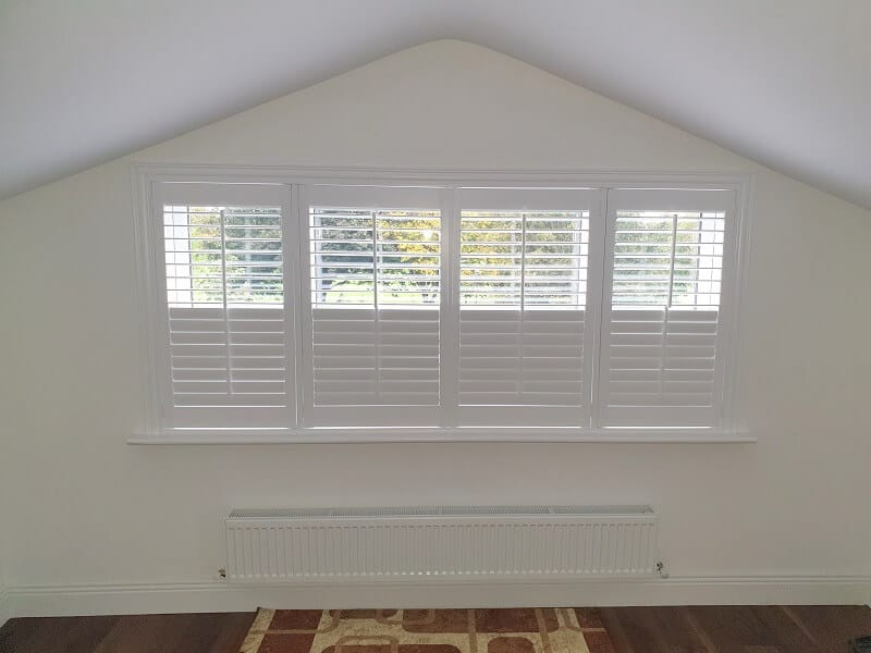 White Plantation Shutter installed in Cabra, Dublin 7