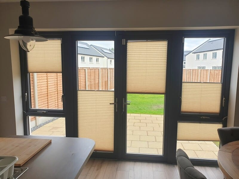 Multi-Functioning Pleated Blinds installed in Hollywoodrath, Dublin 15