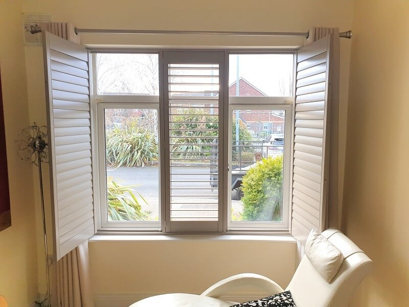 Grey Plantation Shutters installed in Castaheany, Dublin 15