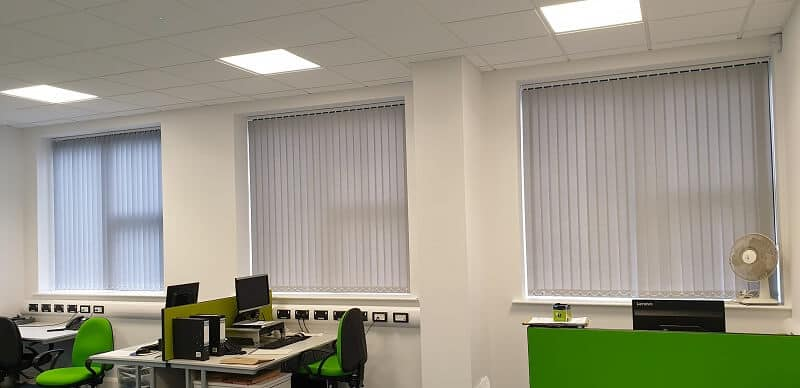 Vertical Blinds installed in an office in Blanchardstown, Dublin 15