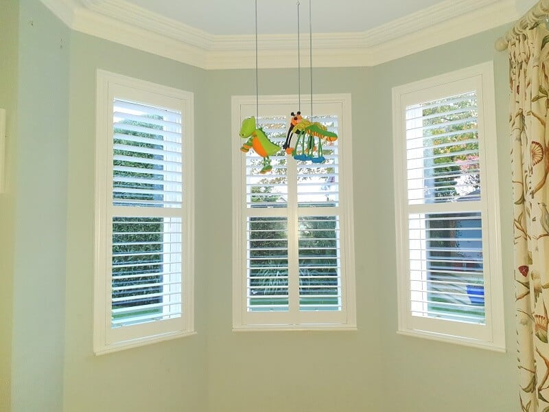 White Plantation Shutters fitted in Greystones, Wicklow.