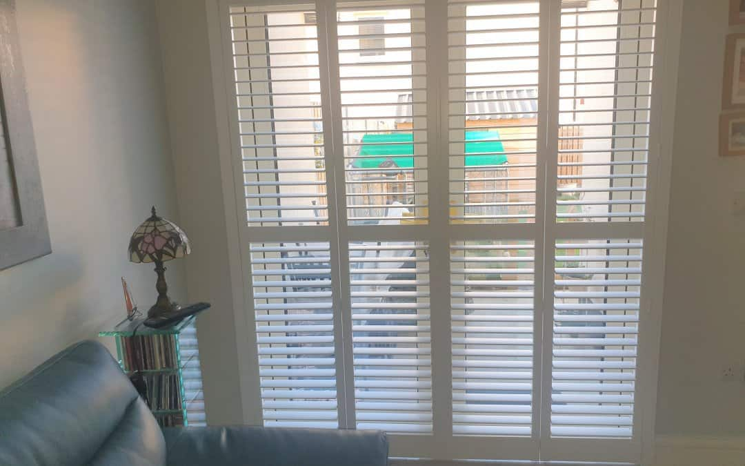 Large and small plantation shutters fitted in Lusk, Dublin.