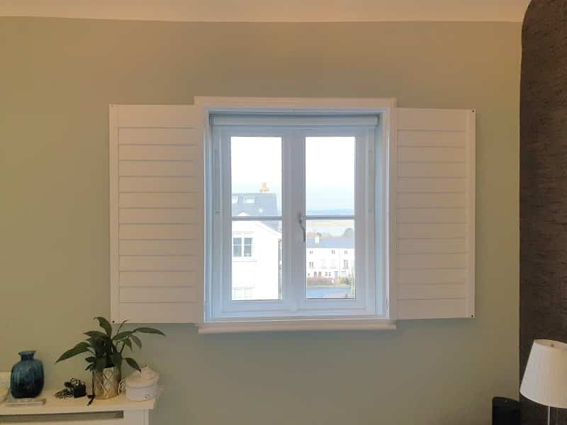 White Plantation Shutters installed in Malahide, Dublin.