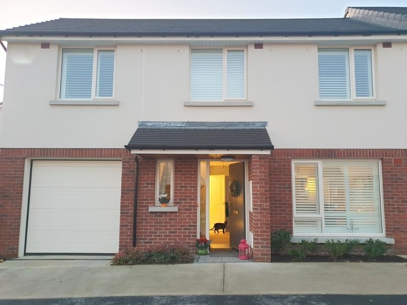 White Shutters installed in a beautiful new home in Dun Rioga, Dunshaughlin, Meath.
