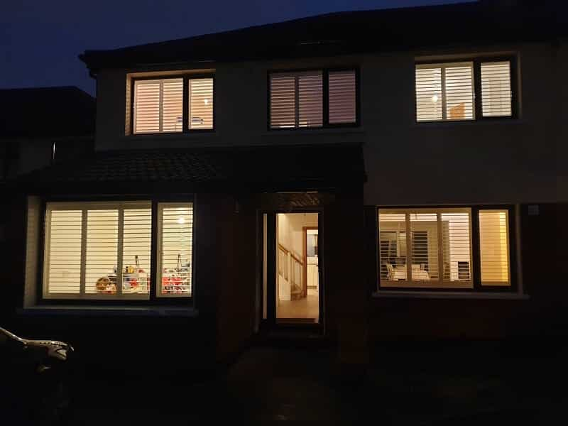Natural Wood Plantation Shutters fitted in Dundrum, Dublin 18.