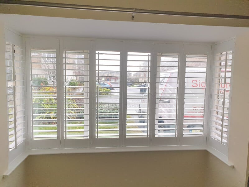 White Plantation Shutters fitted in Tyrrelstown, Co Dublin.