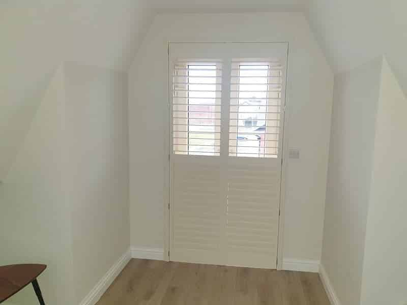 Off-White Plantation Shutters fitted in Terenure, Dublin 6W.