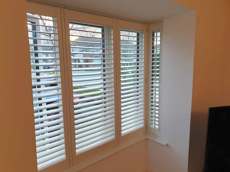 Pearl Plantation Shutters with 63mm louvers in Clonee, Dublin 15