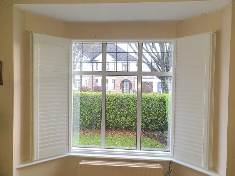 Silk White Plantation Shutters fitted on the Navan Road, Dublin 7