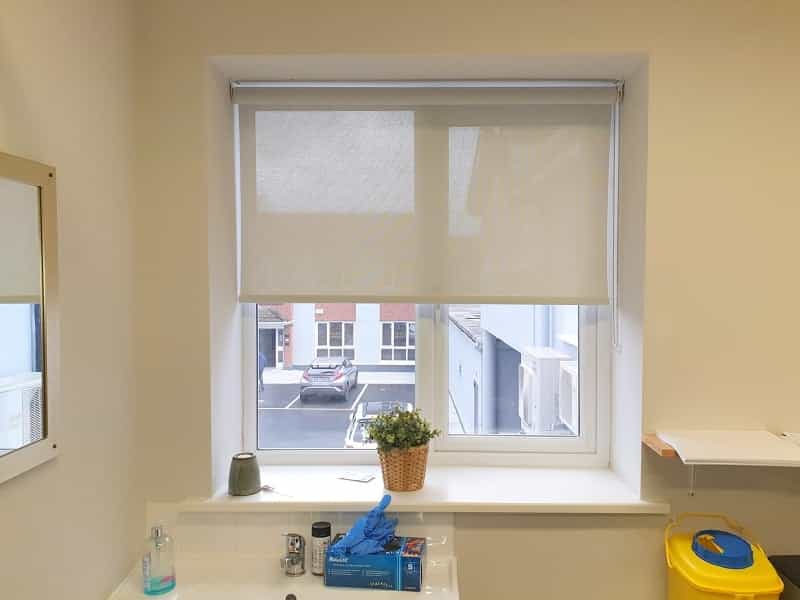 Roller blinds installed in a medical Clinic in Castleknock, Dublin 15