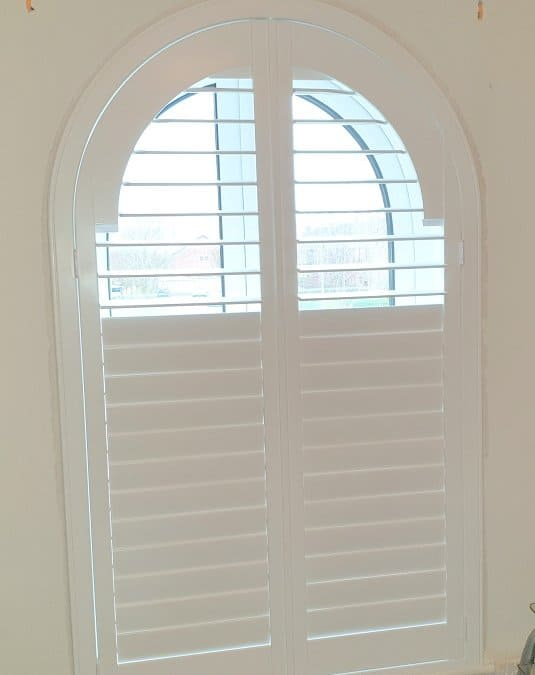 Arched Plantation Shutter from our Titan collection.