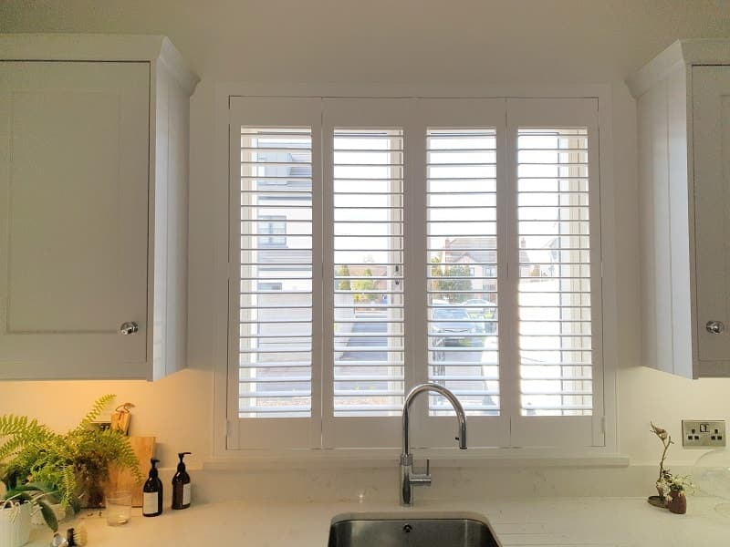 Hardwood Plantation Shutters installed in Waterstown Avenue, Palmerstown, Co Dublin.