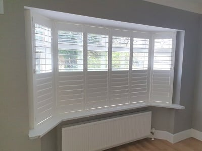 Plantation Shutters installed in Lucan, County Dublin.