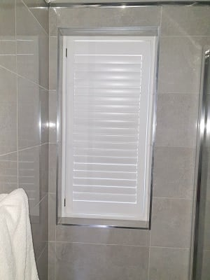 White Plantation Shutters installed in Dublin 4, Dublin.