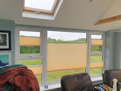 Pleated Blinds installed in the Ward, County Dublin