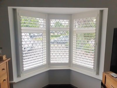 Pure White Plantation Shutters installed in Ratoath, Meath.