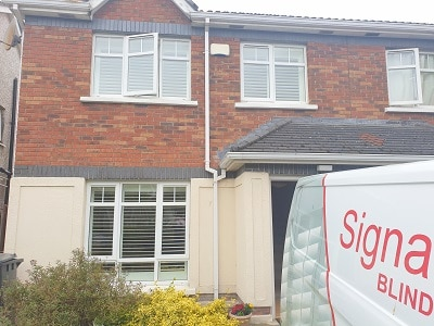 76mm louver Shutters fitted in Allendale, Clonsilla, Dublin 15.