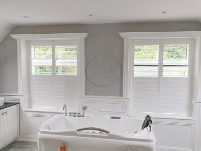 Solid Wood Plantation Shutters fitted in Blessington, Wicklow.