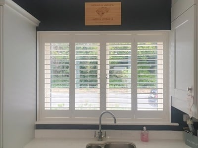 Plantation Shutters with free-features installed in Lucan, Dublin.